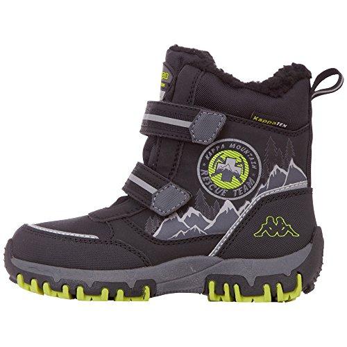 Kappa Unisex-Kinder Rescue Tex Klassische Stiefel, Schwarz (1133 black/lime), 33 EU