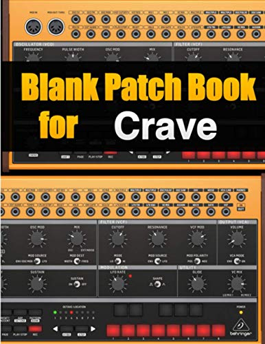 Blank Patch Book for Crave : Blank Patch Sheets Notebook Behringer Crave | 8,5