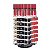Acrylic Rotating Lipstick Holder, Alotpower Cosmetic Organizer Tower 64 Lipstick Holder Organizer Makeup Tower Organizer