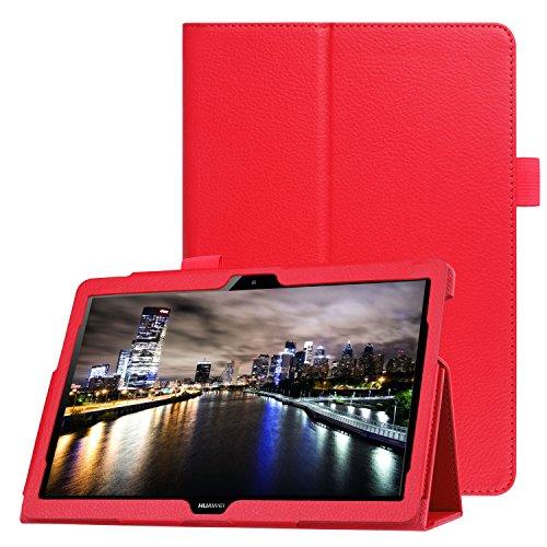 Lobwerk Schutzhülle für Huawei MediaPad T3 10 Stand Hülle 9.6 Zoll aufstellbar Kunstleder + GRATIS Stylus Touch Pen