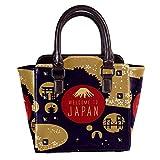 Remaches de cuero de las mujeres de la parte superior de la manija bolsos cruzados bolsos de la moda mochilas para las compras trabajo campus negro elegante Japón viaje