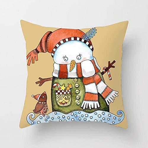 ouyalis Cushion Covers Cartoon Santa Christmas Pillow Covers Home Decor Decorative Pillows for Living Room-450mm*450mm_J11