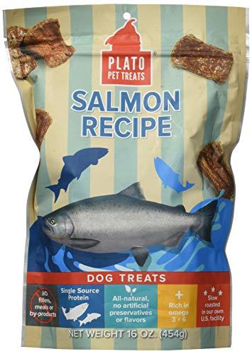 Plato Dog Treats -- Natural Salmon -- Pet Treats, All-Natural, Non-Gmo, No Artificial Flavors, Or Preservatives, Made In The Usa