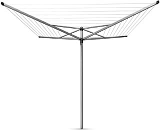 Brabantia Topspinner Large Rotary Airer with 45 mm Metal Ground Spike and Protective Cover, 50 m
