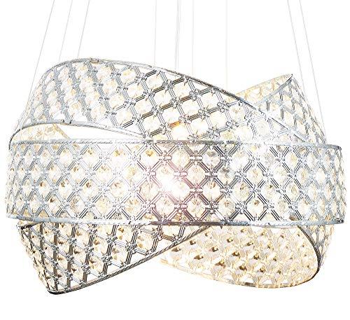 Moderno lusso vetro cristallo lampadario plafoniera di dimensioni Ø50cm soffitto soggiorno luce incl. 5xG9 led lampadini Lewima Orbius