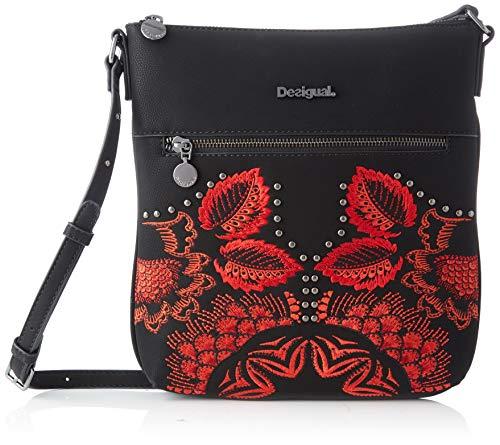 Desigual Bag Gemini Kaua, Bandolera para Mujer, Negro (Negro), 28.5x4x26.2 centimeters (B x H x T)