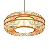 WFZRXFC Doble Redondo Colgante lámpara Creativa Personalidad Colgante luz...