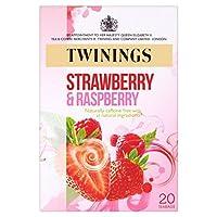 トワイニングイチゴ&ラズベリーティーバッグパックあたり20 (x 2) - Twinings Strawberry & Raspberry Tea Bags 20 per pack (Pack of 2) [並行輸入品]