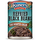 Kuner's Southwest | Refried Black Bean with Roasted Chiles, Canned Beans (Pack of 12), Vegetarian,...