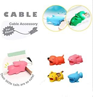 Cute Cable Bite Protection 10 Pieces Animal Charger Protector Cell Phone Accessories for Ipad, iPhone Cable, Samsung Galaxy Wire