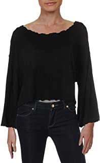 Women's Small Cropped Scoop Neck Knit Top