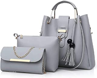 None/Brand Ladies Pu Fashion Handbags, Clutches, Shoulder Bags, 3-PIece Suits, Large Capacity Briefcase Suits gray