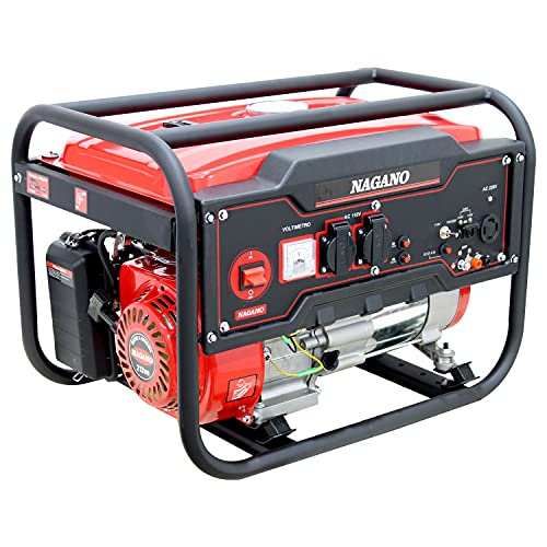 Gerador de Energia a Gasolina 3 6KVA Monofásico Partida Manual 110-220v