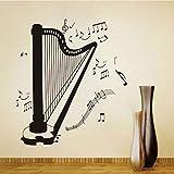 Auto-Adhésif Diy Home Decor Harpe Silhouette Tout Genre Genre Note de...