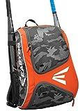 EASTON E110BP Bat & Equipment Backpack Bag | Baseball Softball | 2020 | Orange | 2 Bat Sleeves | Smart Gear Storage | Vented Shoe Pocket | Rubberized Zipper Pulls | Fence Hook