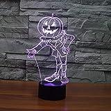 Nur 1 Stück Halloween Pumpkin People Bunte 3D LightLed Led Nachtlicht Schöne Cartoon Kinderspielzeug