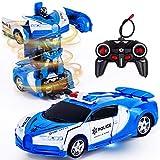 Vubkkty Fernbedienung Transform Auto Roboter Spielzeug mit Lichtern Verformung RC Auto 2,4 GHz 1:18 Wiederaufladbare 360 ° drehbare Stunt Rennwagen Spielzeug für Kinder