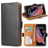 Bozon Galaxy Note 9 Hülle, Leder Tasche Handyhülle für