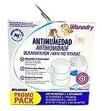 Wanadry DOME, Pack Promocional, Dispositivo Antihumedad + 3 recambios (3 unidades x 450g).