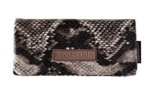 smoke shirt smokeshirt® Club Tabaktasche, Überzug für Tabakbeutel, Drehertasche, Feinschnitt-Tasche in div. Farben und Designs Canvas oder Schlangenoptik, modisch, elegant