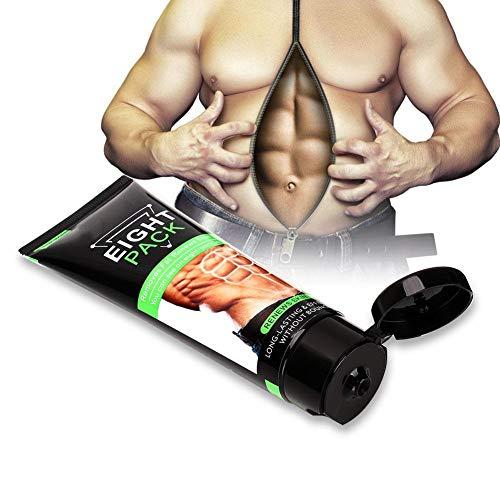 Crème Chaude, 80G De Ventre Brûlant Pour Brûler Les Graisses Anti-Crème Cellulite Améliorateur Des Muscles Abdominaux Serrer Le Gel