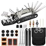 Kit de herramientas para bicicleta, 16 en 1 herramienta multifunción para bicicleta, kit de reparación de pinchazos, multimultiherramienta para bicicleta de montaña