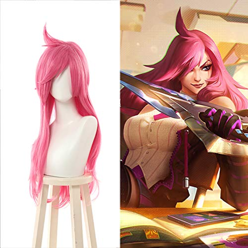 Xin Hai Yuan Spiel LOL Katarina Cosplay Perücken Kampf Academia Perücke Lange Rosa Halloween hitzebeständige Synthetisches Haar