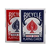 lxwi Tarjetas de Juego 2pcs / Set Poker Blue & Red Bicycle Magic Regular Playing Cards Rider Back Decks Estándar Magic Trick 808 Decks Sellados