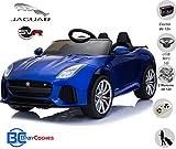 BC BABY COCHES Jaguar F-Type SVR Coche eléctrico para niños con batería 12v, Mando Control Remoto teledirigido para Padres, Licencia Oficial, asa de Transporte y Maletero. (Azul)