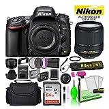 Nikon D610 24.3MP DSLR FX-Format Digital Camera with 18-140mm VR Lens (1540) USA Model Bundle Kit with 64GB SD Card + Large Camera Bag + Filter Kit + Spare EN-EL15 Battery + Telephoto Lens + More