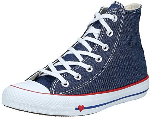 Converse Unisex-Erwachsene Chuck Taylor All Star Hohe Sneaker, Blau (Indigo/Enamel Red/Blue 000), 36.5 EU