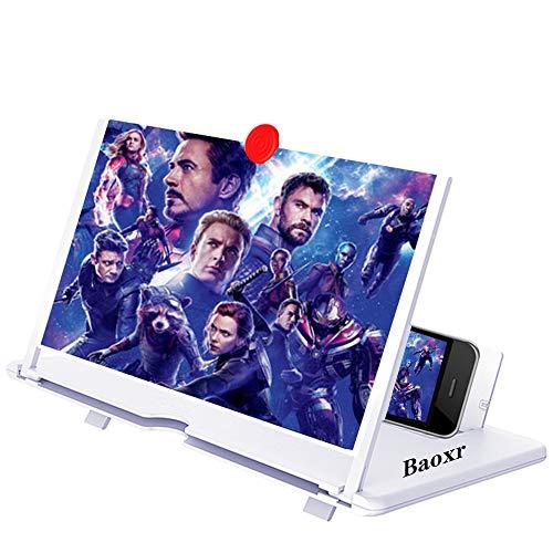 Amplificador de tela 3D, projetor de amplificador HD para filmes, vídeos e jogos. Suporte de telefone dobrável com amplificador de tela para todos os smartphones