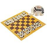 ZAZA Juego de ajedrez Conjunto De Ajedrez con Lindo Caja De Ajedrez Portátil Plástico Juego De Ajedrez De Ajedrez Juego Juguetes Educativos para Niños Ajedrez (Color : Elephant Box Chess Set)