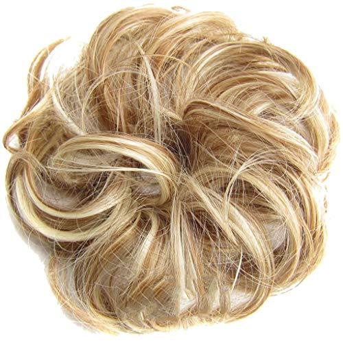 Femmes Fille Chouchous Cheveux Avec Perruque, Facile-à-porter élégant Cheveux Cercle Femmes Filles Cercle Des Cheveux Elastique Bandeaux,Pour Cheveux Clairsemés,Augmenter L'épaisseur Des Cheveux