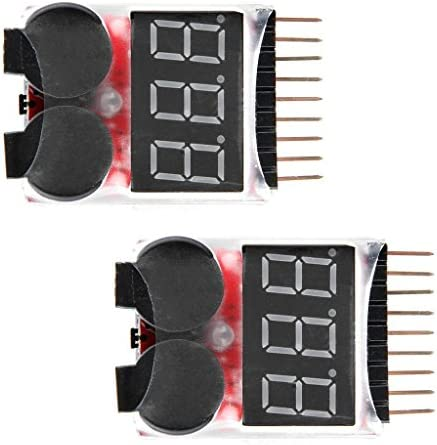 WINGONEER 2PCS RC Lipo Battery Monitor Alarm Tester Checker Low Voltage Buzzer Alarm with LED product image