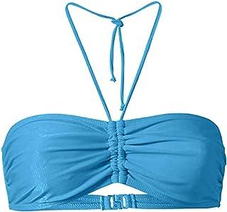 Women Solid Bandeau Swim Bra Push up ❀ Ladies Fashion Sling Bikini Tops Beach Sport Bra Swimwear Beachwear Bathing Suit