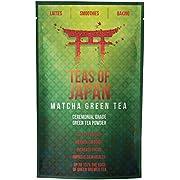 Matcha Green Tea Powder by Teas of Japan Organic Premium Quality Pure Ceremonial Grade from Uji, Japan Use for Drinking, Cooking, Baking & Smoothie Making Vegan & Vegetarian Friendly