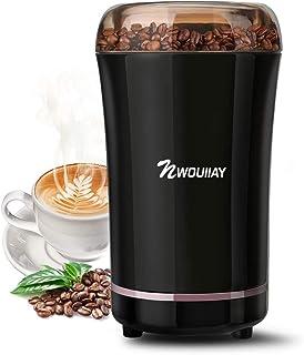 NWOUIIAY 電動コーヒーミル コーヒーミル 電動ミル コーヒーグラインダー 300Wハイパワー 304ステンレス製 安全安心 ワンタッチで自動挽き 1年間保証