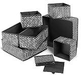 ilauke 8 Cajas Organizador de cajones Tela organizadores Almacenamiento Plegable para Sujetadores...