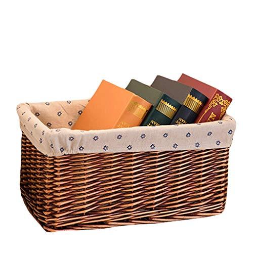 Jinliu - Cestino portaoggetti per la casa, da scrivania, con scatola portaoggetti ZHJING (colore : Marrone, Dimensioni: L)