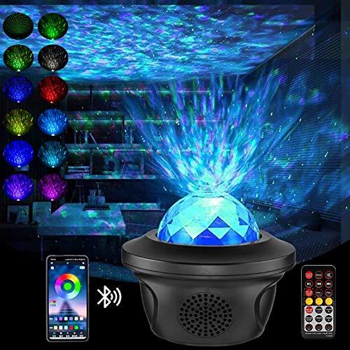 LED Sternenhimmel Projektor - Aibeau LED Sternenlicht Projektor mit Fernbedienung & Bluetooth Lautsprecher & Timer, Rotierende Wasserwellen Projektionslampe für Zimmer,Party,Zuhause