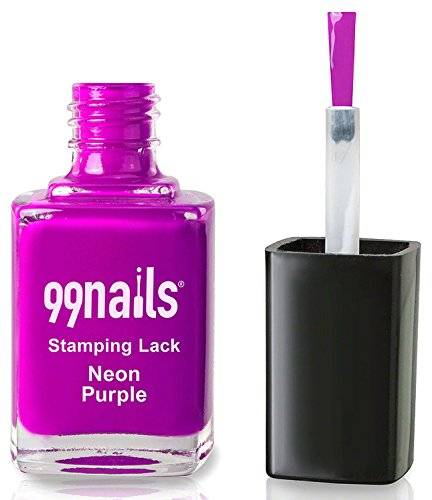 99nails Stamping Lack - Neon Purple, 1er Pack (1 x 12 ml)