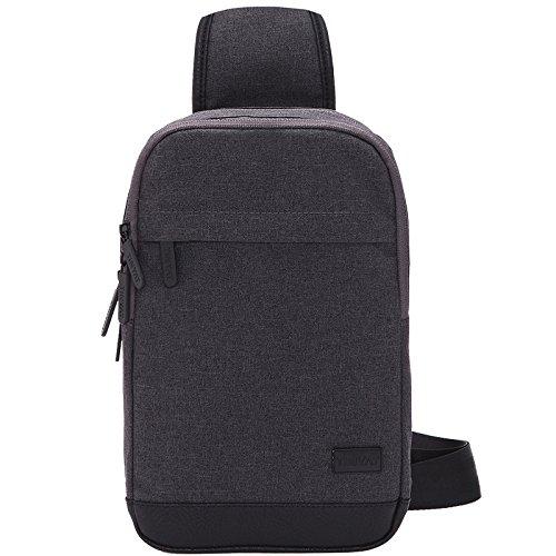 Sac de Poitrine nylon voyage de voyage respirable portable grande capacité hommes dames sacs Messenger Bag Sling bag , dark grey