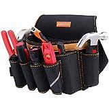 腰袋 釘袋 作業用 電工腰袋 三段 軽量 区分け 工具差し 超頑丈 ホルダー ベルト付き