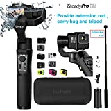 Hohem iSteady Pro 2 Gimbal Stabilizer for Action Camera Gopro Hero 7/6/5/4/3+/3,Sony RX0,Yi Cam 4K,AEE,SJCAM,DJI OSMO Action,Splashwaterproof,with Extension Rod and Tripod