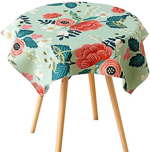 a la venta Uus verde mantel mantel mantel Pastoral Estilo Cuadrado Mantel funda para mesa madera medio ambiente gamuza de algodón cubierta de la mesa de café 140200cm  tienda en linea
