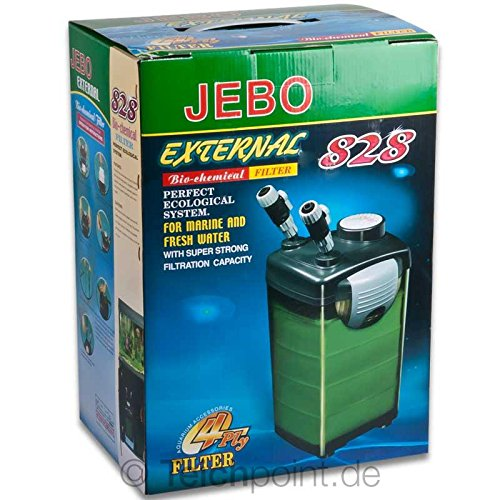 Aquarium Außenfilter JEBO 828, Aquariumfilter für Aquarien bis max. 400 Liter