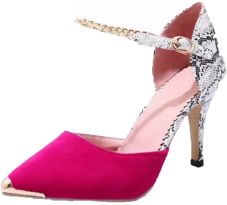 AllhqFashion Women's Assorted color Blend Materials Closed-Toe Sandals