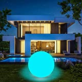 Lámpara solar flotante, bola flotante de bola solar de 40 cm, 16 colores LED, piscina de luz flotante impermeable IP67 para la terraza, camino, jardín, boda, playa, decoración de patio.