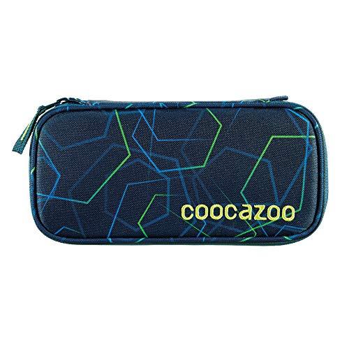 """Coocazoo Federmäppchen PencilDenzel """"Laserbeam Blue"""" blau, Schlamperetui, Geodreieckfach, Stundenplanfach, herausnehmbarer Stiftehalter, zusätzliches Reißverschlussfach"""